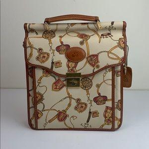 Braciano structured Italian messenger bag, purse